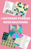 Thumbnail 5 Diffrent Puzzles with solutions Includes Akari ,Domino